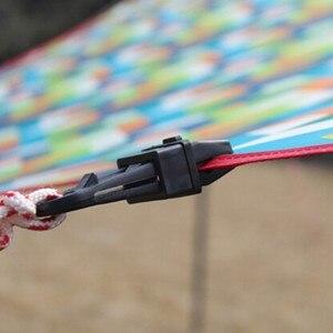 Image 4 - 6 個テント 8.2*3.1 cmAwning 風ロープクランプ日よけ屋外のキャンプ旅行プラスチッククリップクリップテント日よけアクセサリー