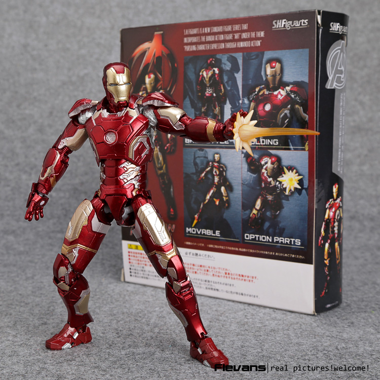 Avengers Age of Ultron S.H.Figuarts Iron Man Mark 43 PVC Action Figure Collectible Model Toy 15cm HRFG464 shfiguarts batman injustice ver pvc action figure collectible model toy 16cm kt1840