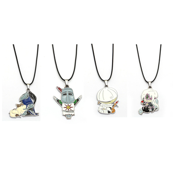 Game DARK SOULS 3 Necklace Enamel Metal Pendant Cartoon Solaire of Astora Painting Fire Keeper Artorias Onion Knight New Jewelry image