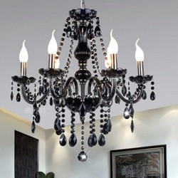 Black-color-real-k9-crystal-pendant-chandelier-lustres-de-cristal-lamparas-para-sala-luminaras-lighting-fixture