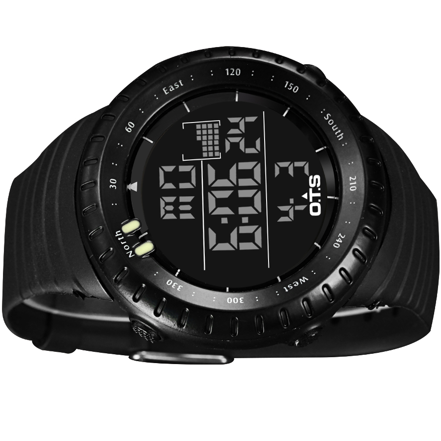 OTS Cool Black Mens Fashion Luminous LED Digital Swimming Climbing Outdoor  Man Sports Watch Christmas Boys Gift Reloj Hombre-in Digital Watches from  Watches ... c6ac976b446