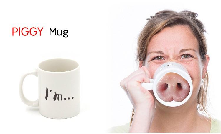 Piggy Style Ceramic Mug