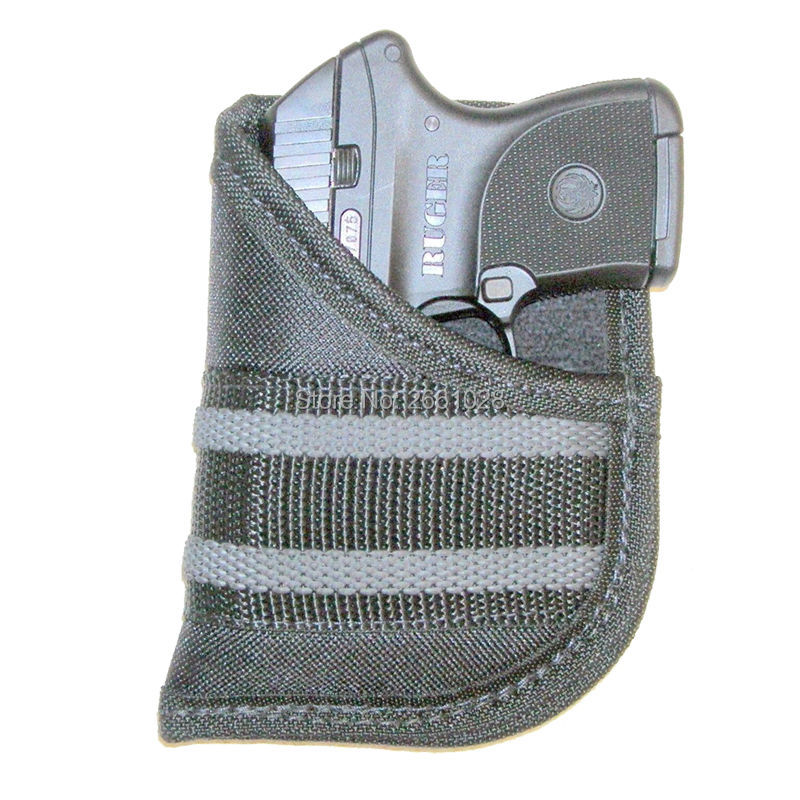 Pocket Pistol Holster EDC Conceal Carry Tactical Nylon Handgun Bag Gun Pouch Small 22-25 Autos Airsoft Shooting Accessories image
