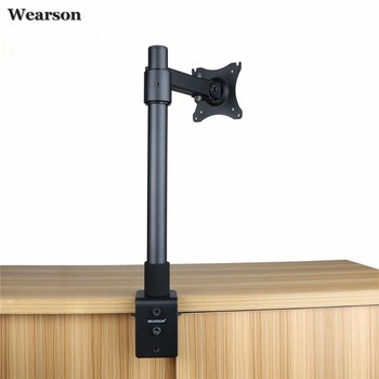 Buy Wearson Single LCD Monitor Desk Mount Stand Height Adjustable Tilt 360 Swivel Thickened Steel VESA 75x75,100x100mm Fits 22