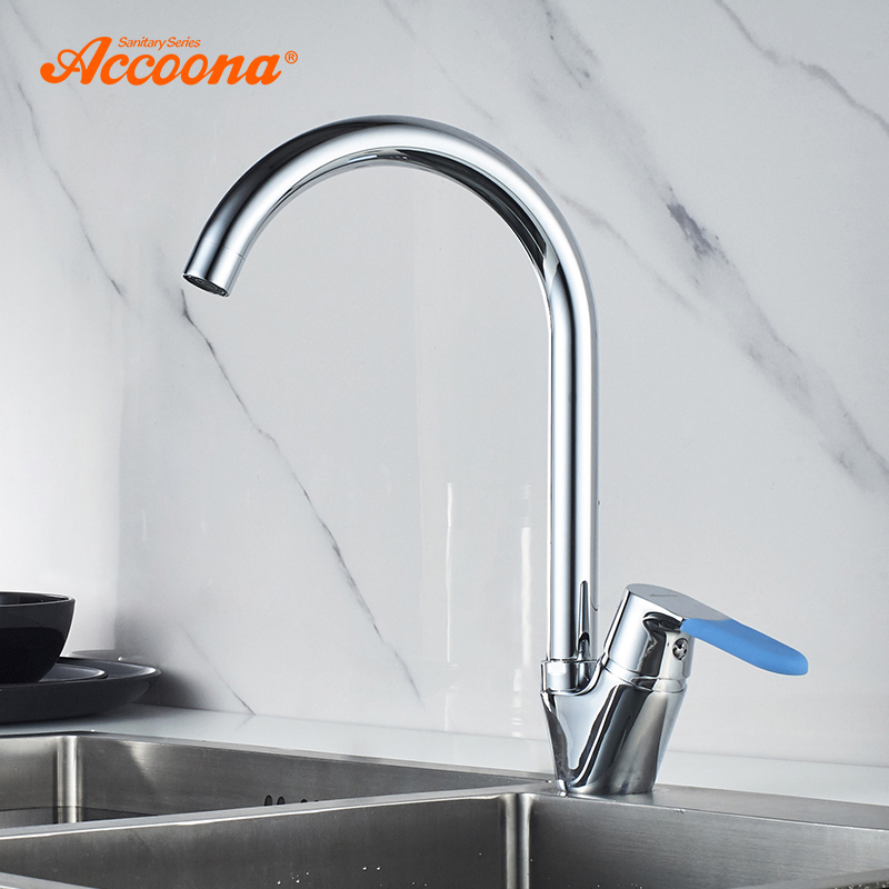 Accoona Basic Kitchen Faucet Brass Water Tap Bar Sink Faucets Single Handle Cold Hot Water Mixer Tap Crane A4519 цена