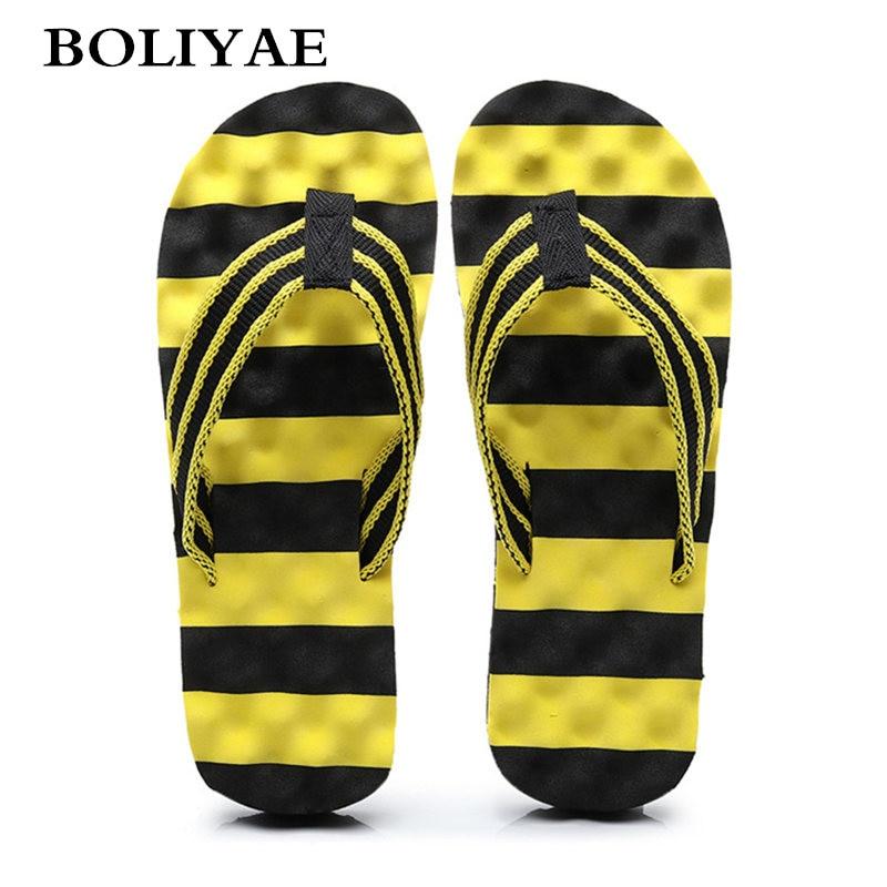 Fashion Men Summer Flip Flop Shoes Sandals Male Slipper Indoor Or Outdoor Beach Flip Flops Men Home Non-slip Breathable Slippers
