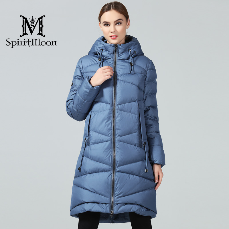 SpiritMoon 2018 New Woman Winter Coats And Jackets Long For Women Women's   Parka   Hooded Brand Bio Down Jacket Plus Size 5XL 4XL