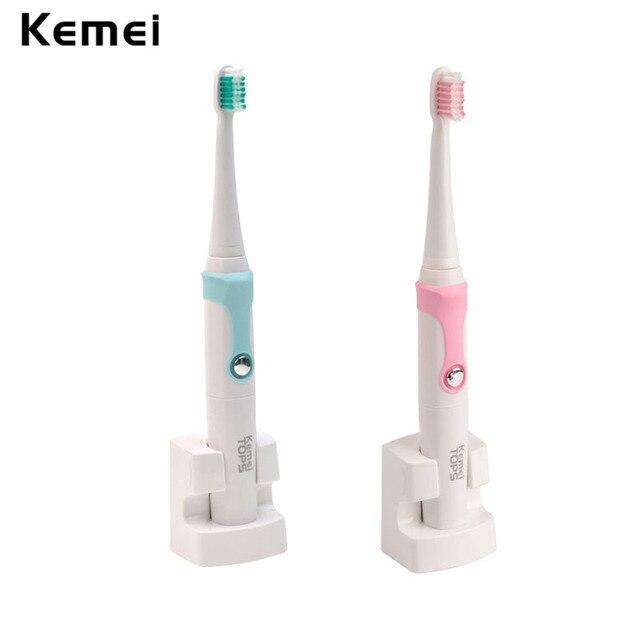 Автоматическая электрическая Зубная Щетка Зубная Щетка Водонепроницаемый Sonic Индуктивной Зарядки Зубы Щеткой Массаж 4 Насадки-Щетки Дети Взрослых
