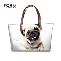 FORUDESIGNS Large Women Handbags Cute Animal Pug Dog Prints Messenger Bags For Woman Women Fashion Teenage Girls Shoulder Bags