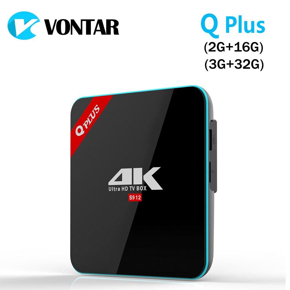 VONTAR Q Plus 3GB 32GB Amlogic S912 Octa Core Andorid 7.1 TV BOX 2.4G/5GHz WiFi BT4.0 4K 2G 16G Set Top Box Smart Media Player