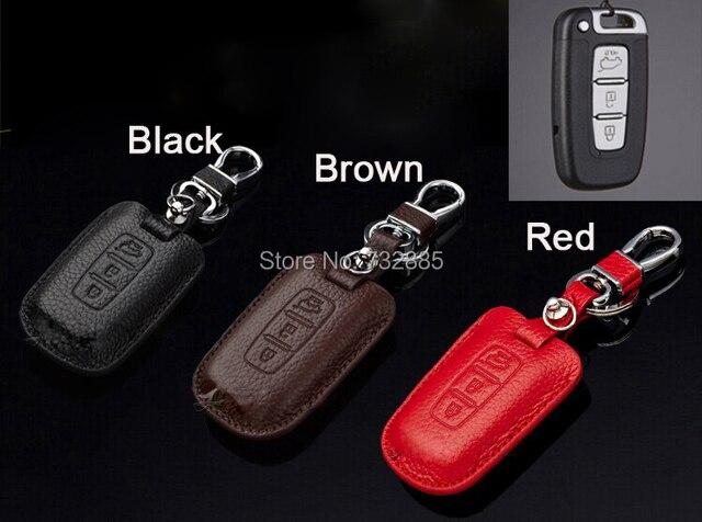 100% Натуральная Кожа Ключа Автомобиля Дело/Ключевые Держатель Для Hyundai IX35, Соната 8, Длинный Ход и Kia Sportage K5 K2 Автомобиль Ключевые Сумка Аксессуары