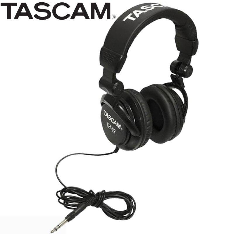 Tascam TH 02 クローズドバックスタジオヘッドフォンブラックとパッド入りヘッドバンドと耳パッドスタジオ録音モニターヘッドフォン  グループ上の 家電製品 からの ヘッドホン/ヘッドセット の中 1