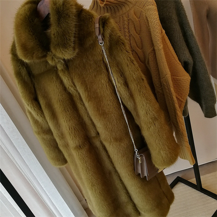 2019 New Style High-end Fashion Women Faux Fur Coat S71 Back To Search Resultswomen's Clothing