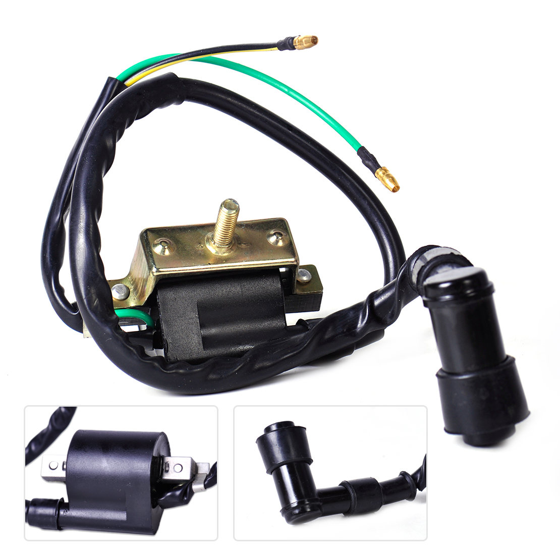 beler New 2 wire Ignition Coil Pack fit for 4 Stroke Chinese Import Pit Dirt Bike 110cc 125cc 140cc Pitbike image