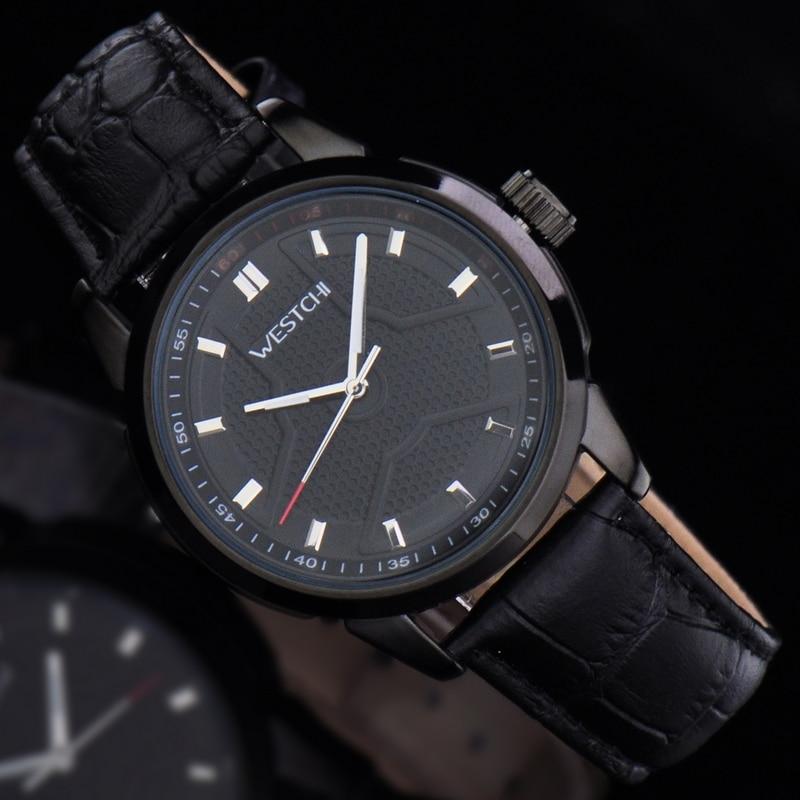 2016 hot sale top luxury brand WHESTCHI quartz sports genuine leaather high qulitywaterproof 30m watch