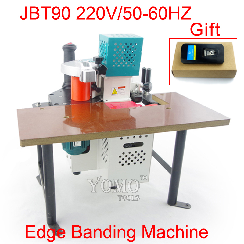 Jbt90 portable edge banding machine with speed control ce certificate 220v 50 60hz
