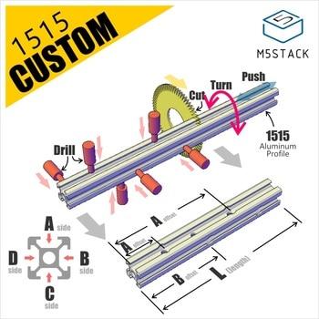 M5Stack Aluminum Profile Custom Design (M5 PCD Pick-Cut-Drill Machine)