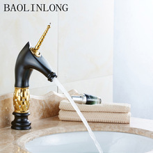 Paint Brass Deck Mount Basin Bathroom Faucet Vanity Vessel Sinks Crane Mixer Faucets Tap