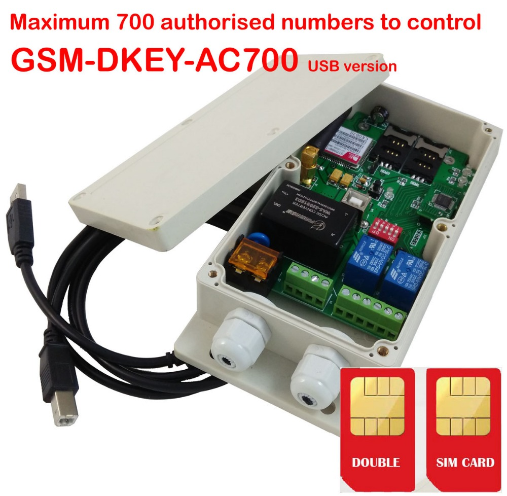 Double Alarm Input And Double Relay Output DUAL SIM Card GSM Gate Opener