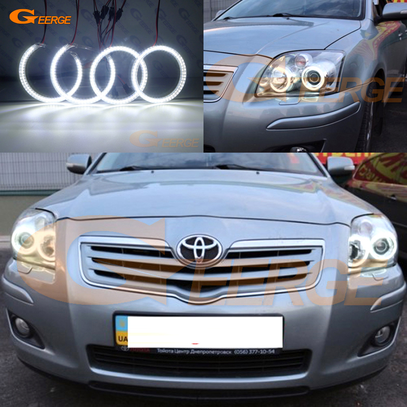 For Toyota Avensis T25 2006 2007 2008 2009 Excellent Ultra bright smd led Angel Eyes Halo Ring kit DRL for honda cr v crv 2007 2008 2009 2010 2011 projector headlights excellent ultra bright smd led angel eyes halo ring kit