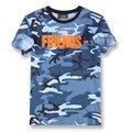 Vlone Amigos Carta V Impressão de Camuflagem T-shirt de Manga Curta dos homens Militar Do Exército Camo Tees Hip hop Camisetas Hombre de Moda S-XL