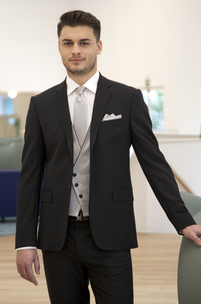 2018 Latest Coat Pant Designs black men suit grey waistcoat formal men  tuxedo for wedding smart business evening party 3 pieces-in Suits from Men s  Clothing ... 6a8c8031549