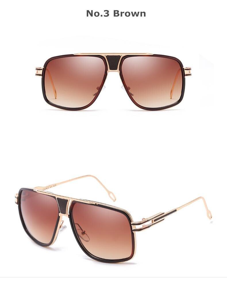REALSTAR 2018 Marque Carré Cinq lunettes de Soleil Hommes Femmes  Surdimensionné Designer Vintage Métal Lunettes Miroir Lunettes de Soleil  Oculos S342 960630afa5af