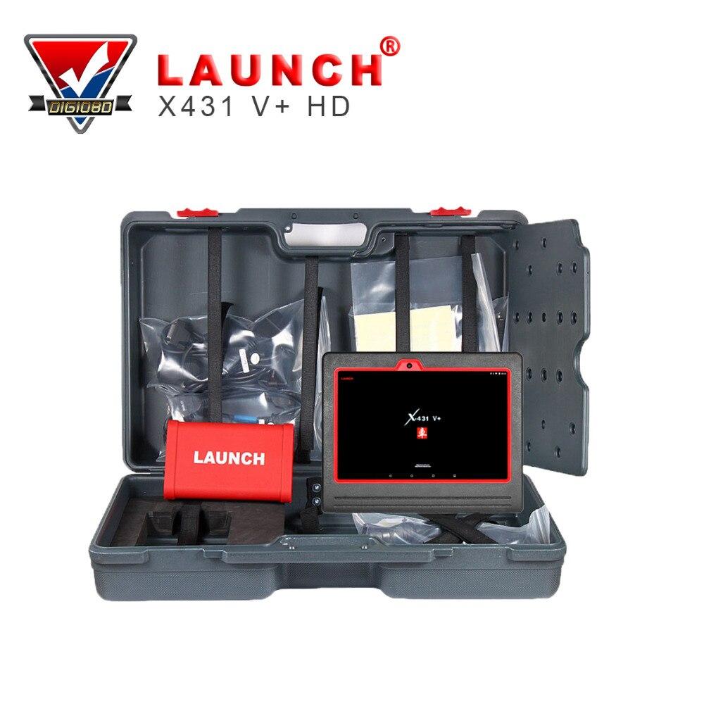 Цена за Запуск X431 V + Heavy Duty Truck диагностический инструмент HD сканер на базе Android компьютера и adatpers ящик для 24 В автомобиль сканирования