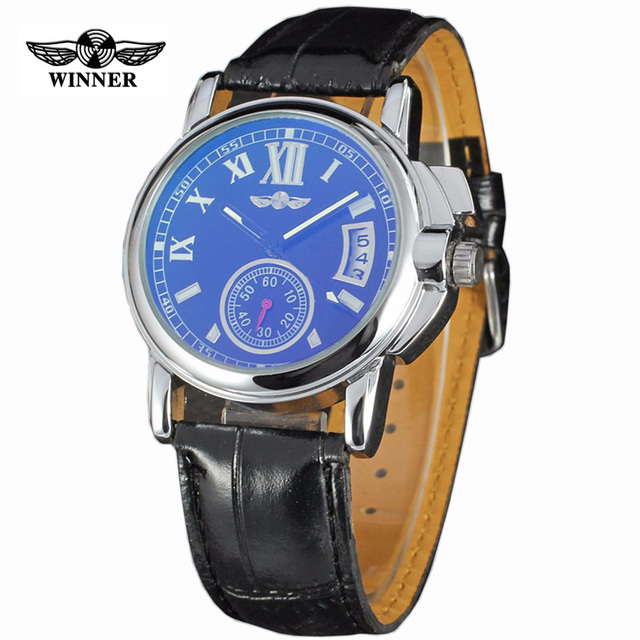 Winner Men's Automatic Mechanical Watch Stainless Steel Strap Date Calendar Sub-dial NEW FASHION SPORTS DESIGN Watches
