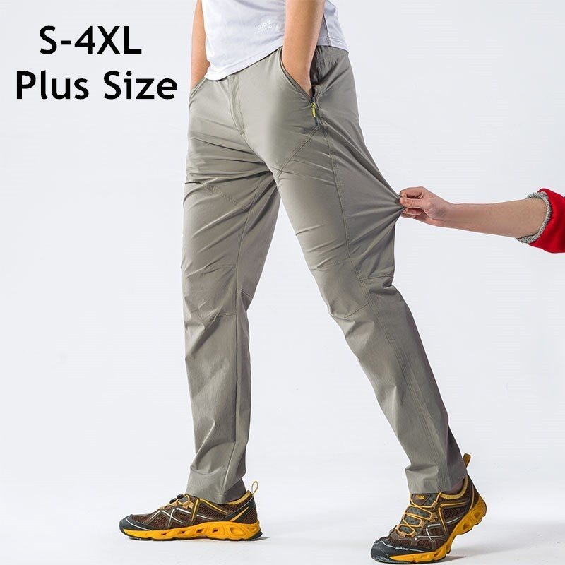 Men Women Summer Thin Fast Dry Sport Trousers Outdoor Climbing Stretch Breathable Fishing Hiking Pants 4XL Unisex Quick Dry Pant