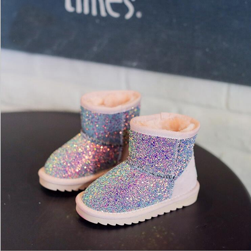 Freezing Cold Winter Children Snow Boots Sequined Girls Plush Snow Boots  Girls Casual Boots Cotton Padded Kids Martin Boots K01-in Boots from Mother    Kids ... 45f9e3ada9a6