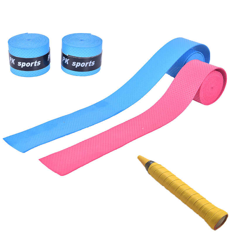 1pc Dry Tennis Racket Grip Anti-skid Sweat Absorbed Wraps Taps Badminton Grips Racquet Vibration Overgrip Sweatband Hot Sports