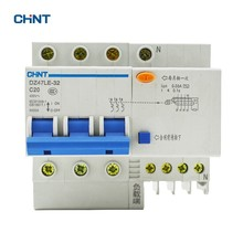 цена на CHINT Earth Leakage 20A Circuit Breaker DZ47LE-32 3P N C20