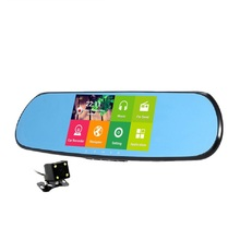 5.0″ IPS Car DVR GPS Navigation Wifi Android Full HD 1080P Car Camera Dual Lens Parking Rearview Mirror Camera Video Recorder