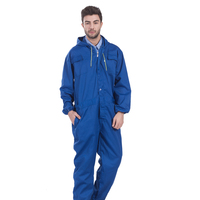 Wholesale Men's durable cheap blue work wear uniforms work overall mens jumpsuit coverall