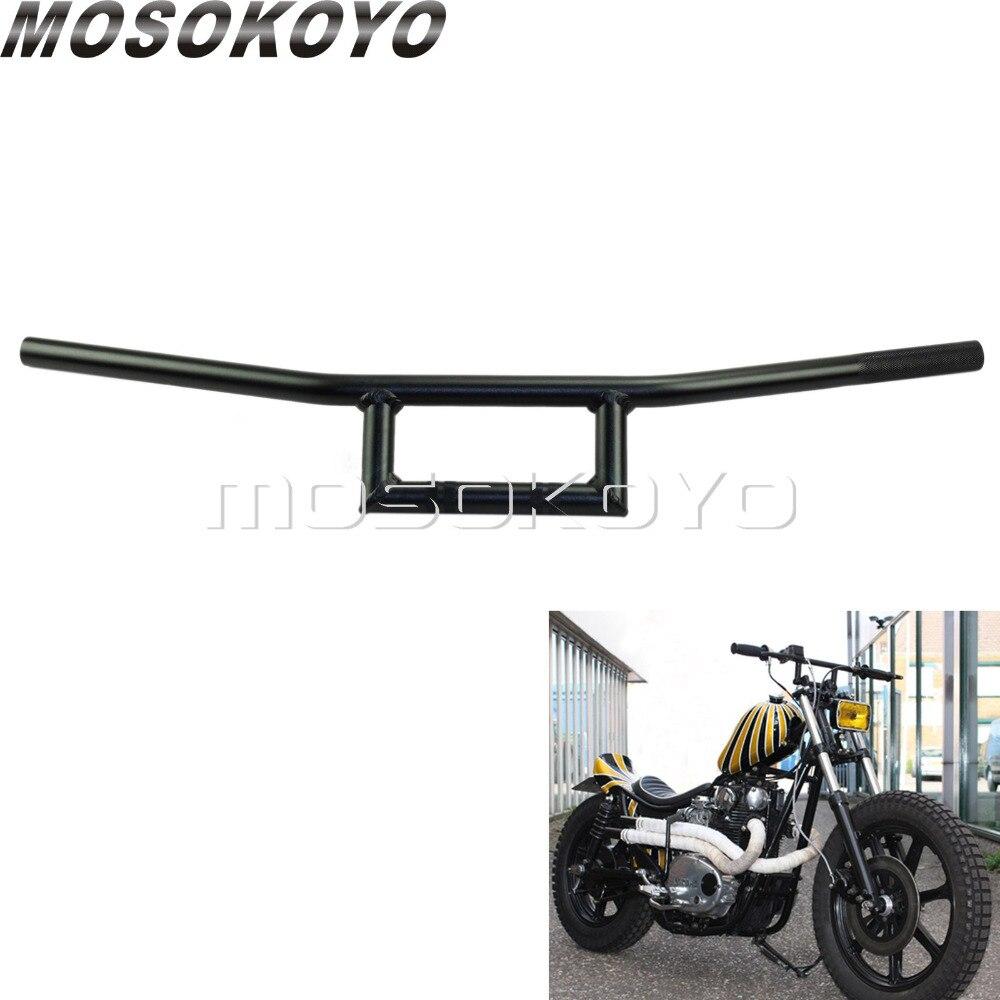 Motorcycle Custom 7 8 Attack Handlebars Cruiser Cafe Racer font b Box b font Window Handle