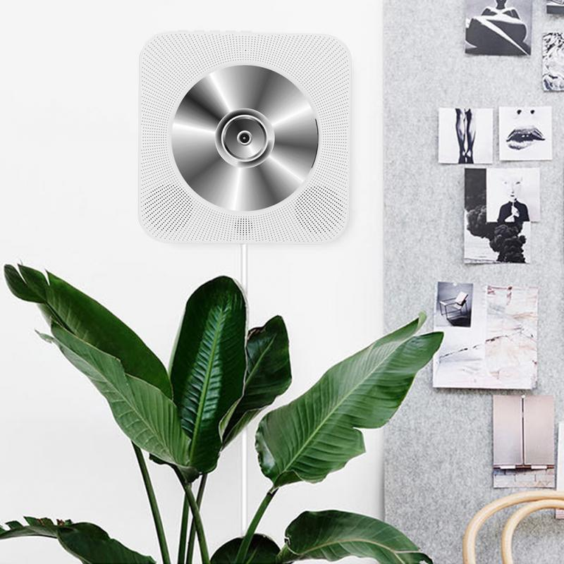 CD Player Wall Mounted Bluetooth Music Players Remote Control/ Collapsible Bracket 3.5MM USB Adapter Support FM Radio MP3 godovic wall cd player cd machine sound mp3 music player wall mount cd player portable with bluetooth remote control