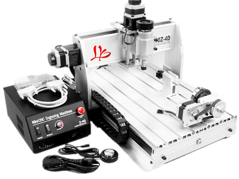 3D CNC Router 3040 Z-DQ, ball screw cnc wood milling machine For PCB Wood, Free tax to EU free shipping cnc 3040 z dq 4 axis 3d wood engraving machine pcb carving router with ball screw tool auto checking instrument