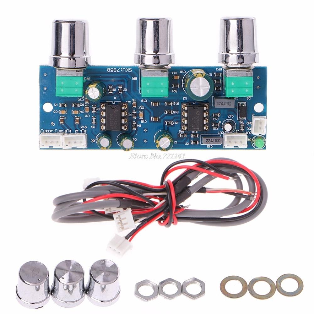 NE5532 DC 12V-24V Low-pass Filter Subwoofer 2.1CH//Pre-Amplifier Preamp Board