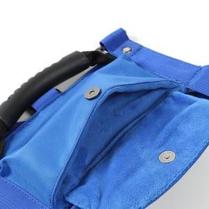 Image 5 - SHINEKA Car Roll Bar Grab Handle with Sunglasses Holder Storage Bag Armrest Pouch Bag Accessories for Jeep Wrangler CJ TJ JK JL