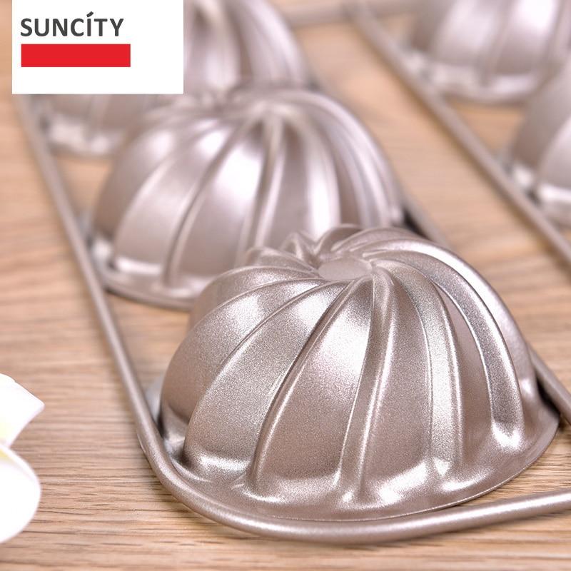 9 tazas Tarta Pan Metal antiadherente Forma de flor Muffin Cupcake - Cocina, comedor y bar - foto 3