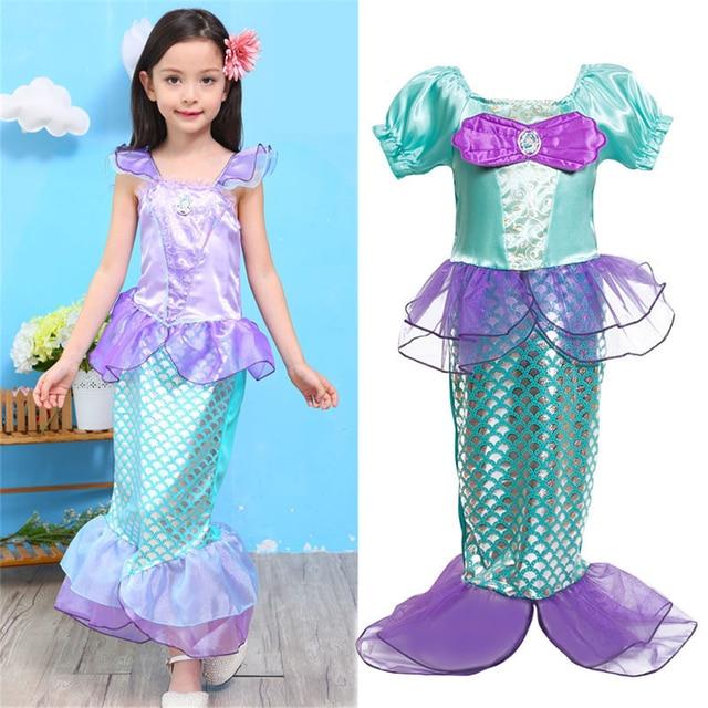 79bdf3525f07 Children Baby Clothes Little Mermaid Fancy Kids Girls Mermaid ...