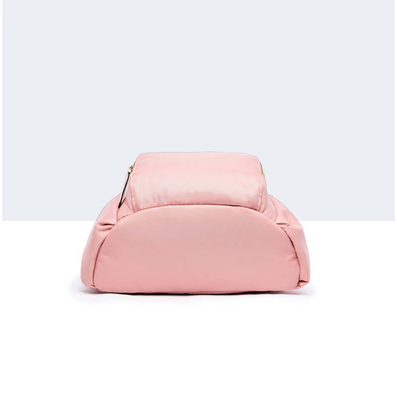 Women school backpack backpack Brand Solid None Zipper Oxford Solid Pink Casual school bags for teenagers mochila schoolbag in Backpacks from Luggage Bags