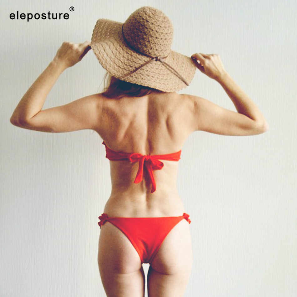 2019 Sexy Bunga Bikini Wanita Pakaian Renang Push Up Bikini Ruffle Swimwear Brasil Terusan Pakaian Renang untuk Wanita