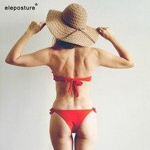Strój Kąpielowy Bikini Zdobione Falbanką PUSH UP