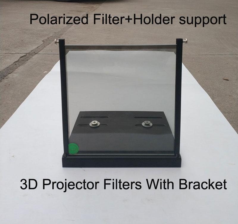 1 Paris 15*15cm/20*20cm/12*12cm 3D Polarizer filter With Holder  Bracket Holder for Proectors Imax Cinemas Projector Filters3D Glasses/  Virtual Reality Glasses