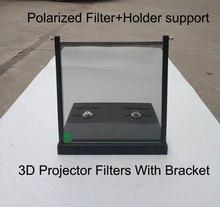 1 parigi 15*15 cm/20*20 cm/12*12 cm 3D Polarizzatore filtro Con staffa di supporto Del Supporto per Proectors Imax Cinema Proiettore Filtri