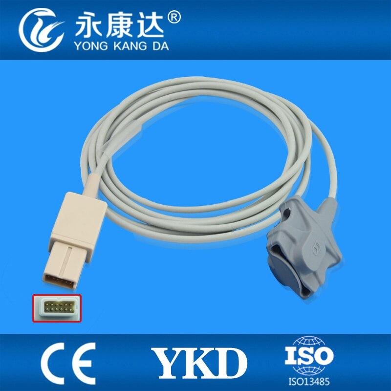 Lohmeier Compatible Adult Soft Tip Spo2 Sensor 6051 0000 035 rectangle 12pins