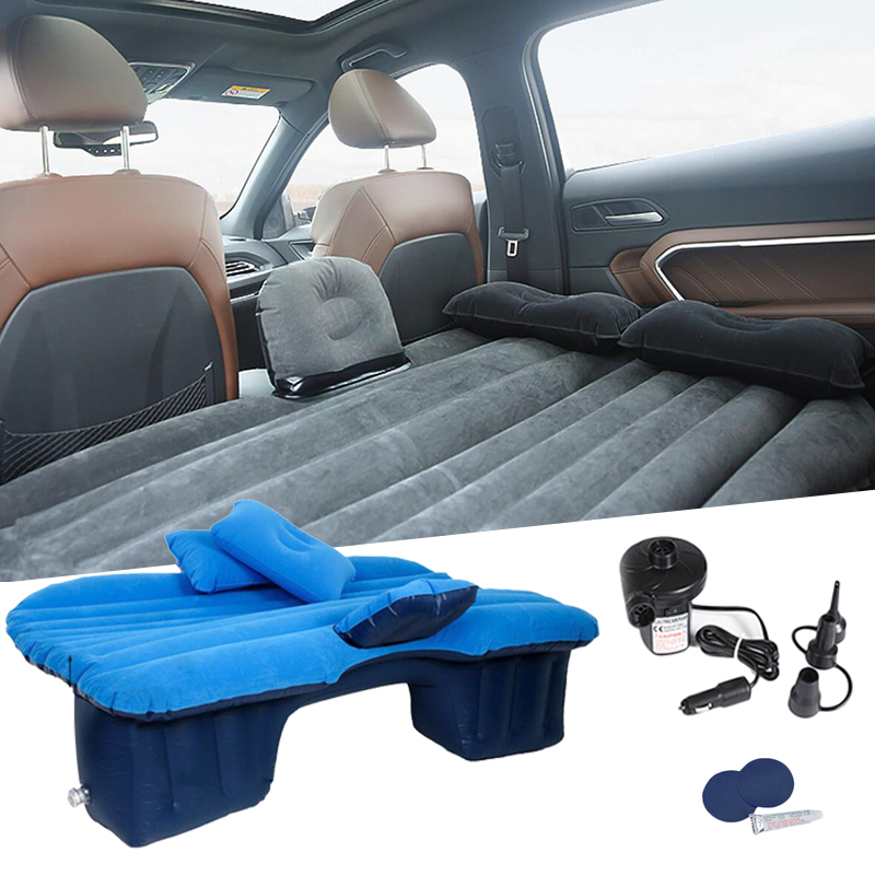 Car Inflatable Mattress Seat Travel Bed Air Bed Cushion Outdoor Travel Beds sex bed Sofa with Pump Camping Moisture-proof Pad