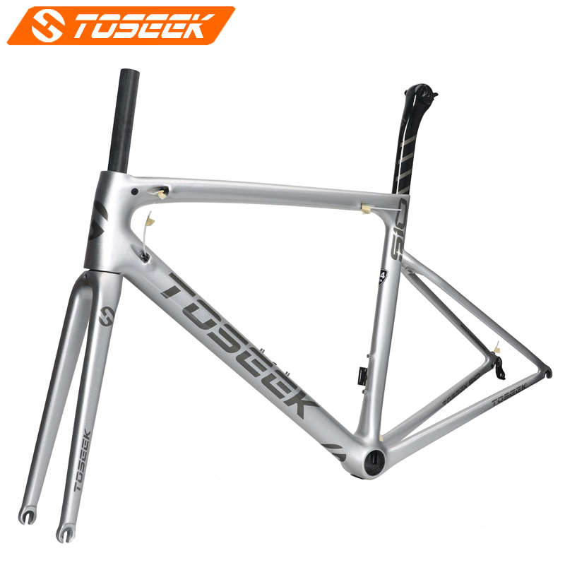 2018 Road Bike Frame Light Weight Racing Bicycle Frameset Seatpost Fork Headset Accept Customized Painted